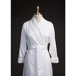 Telegraph Hill Twill Double Layer Bathrobe 100% Microfiber White 6 Per Case Price Per Each