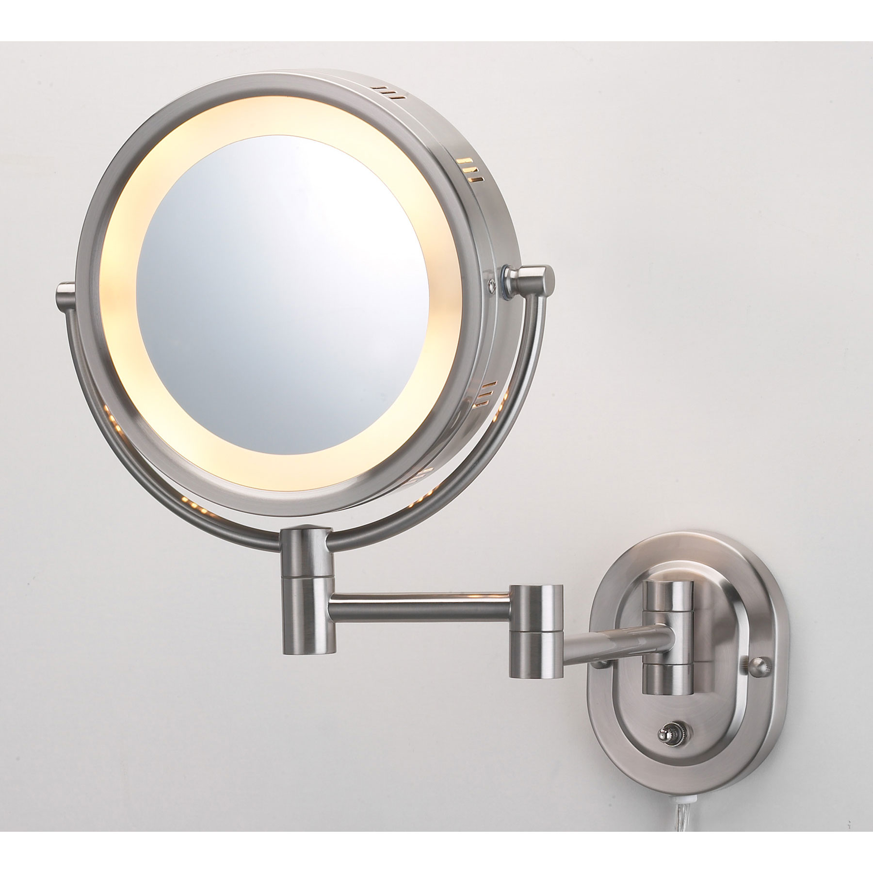 Jerdon Hl65nd 8 Quot Lighted Wall Mount Mirror 1x 5x