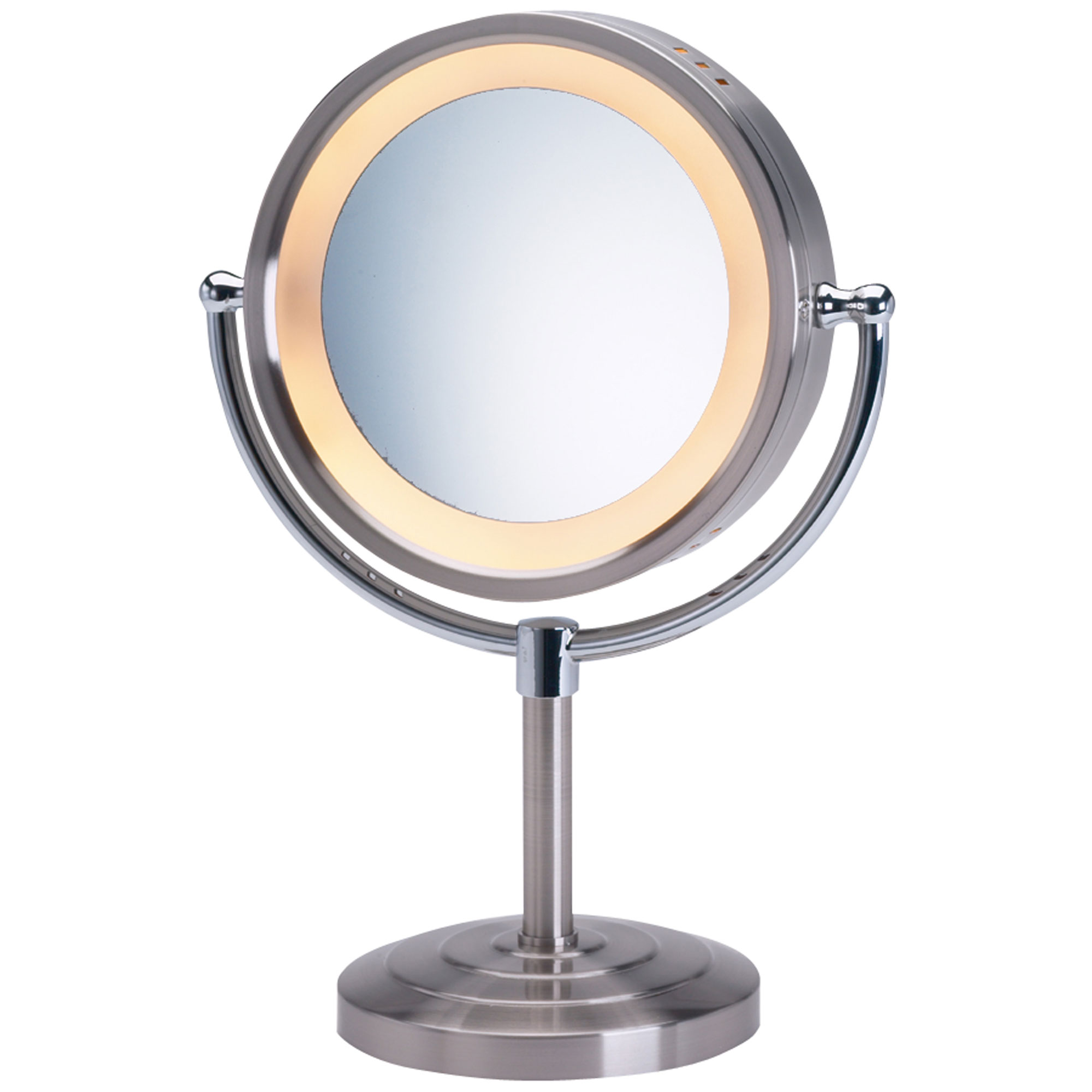 Jerdon Hl745nc 8 5 Quot Lighted Tabletop Mirror 1x 5x