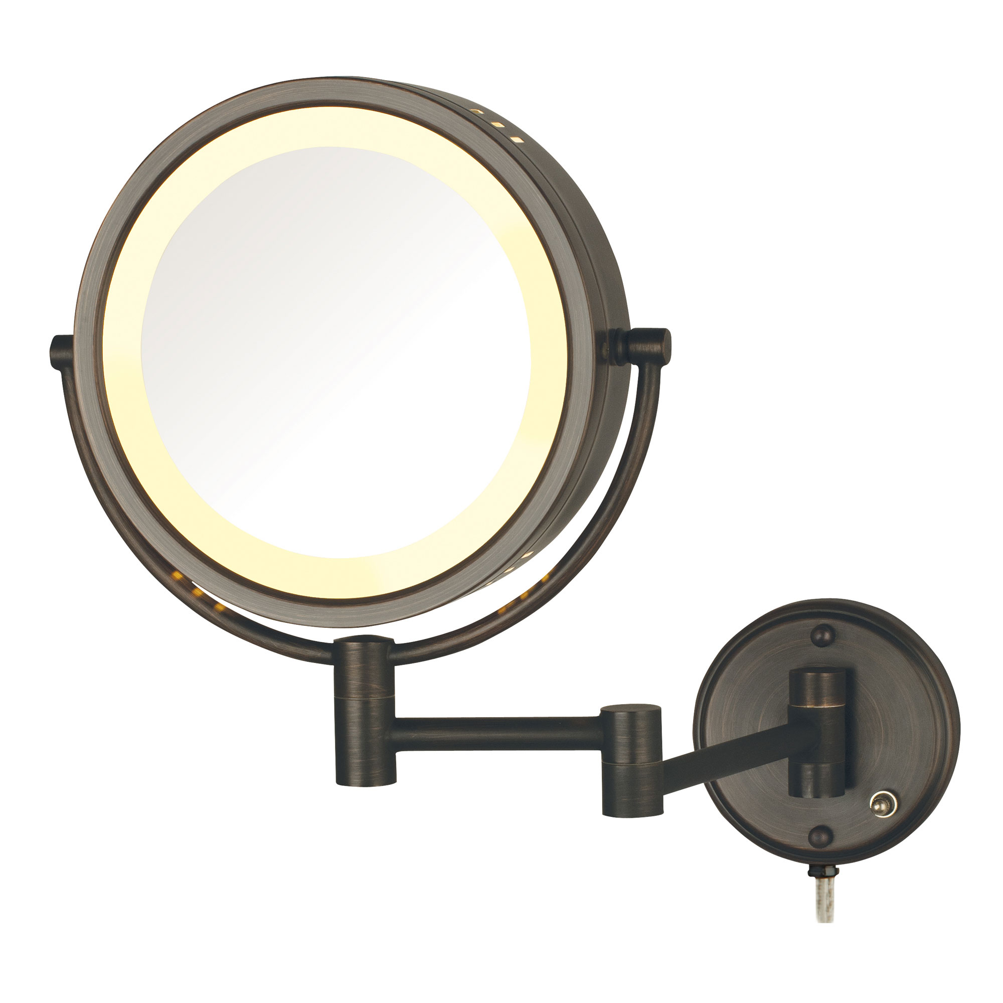 jerdon hl75bz 8 5 lighted wall mount mirror 1x 8x magnification bronze. Black Bedroom Furniture Sets. Home Design Ideas