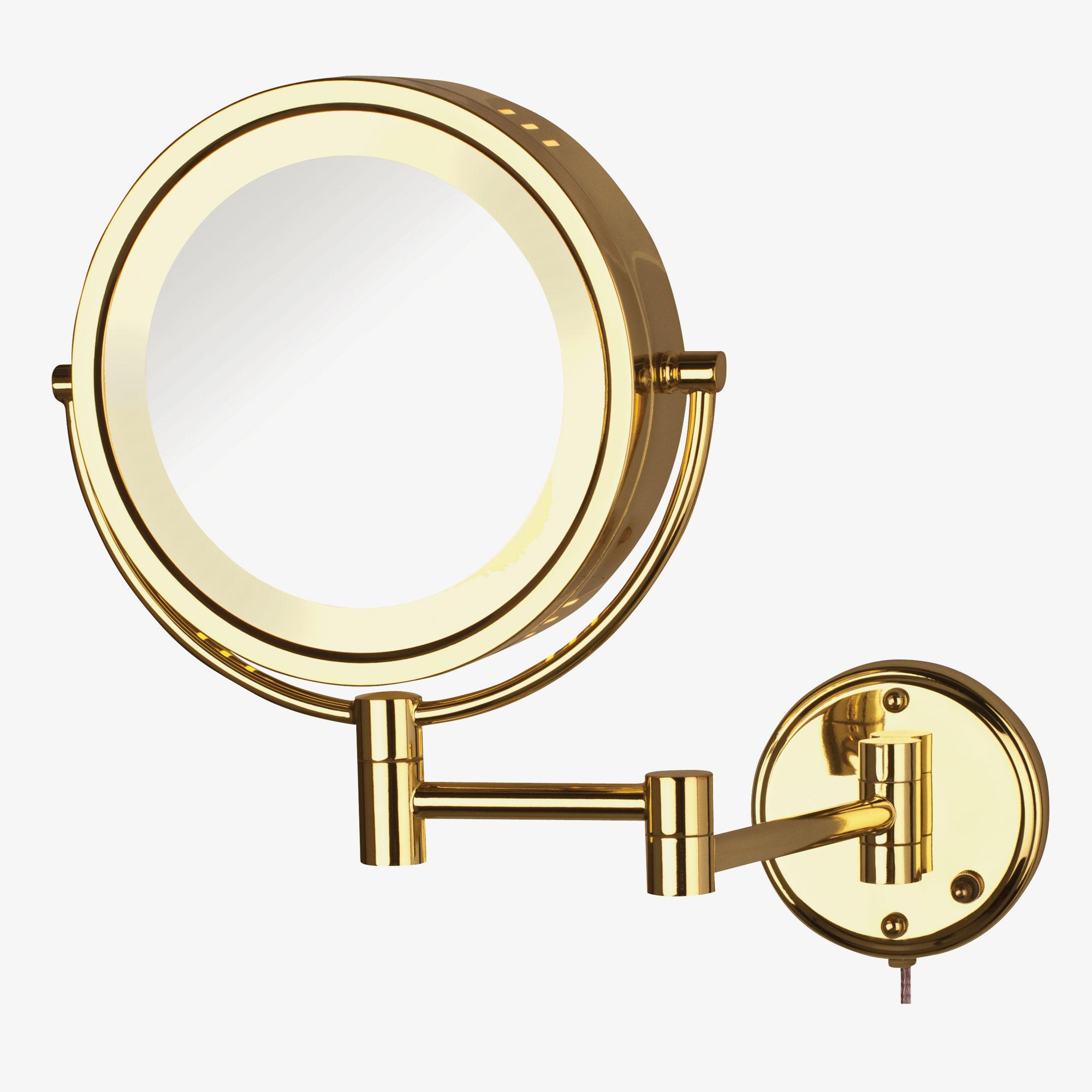 jerdon hl75g 8 5 lighted wall mount mirror 1x 8x. Black Bedroom Furniture Sets. Home Design Ideas