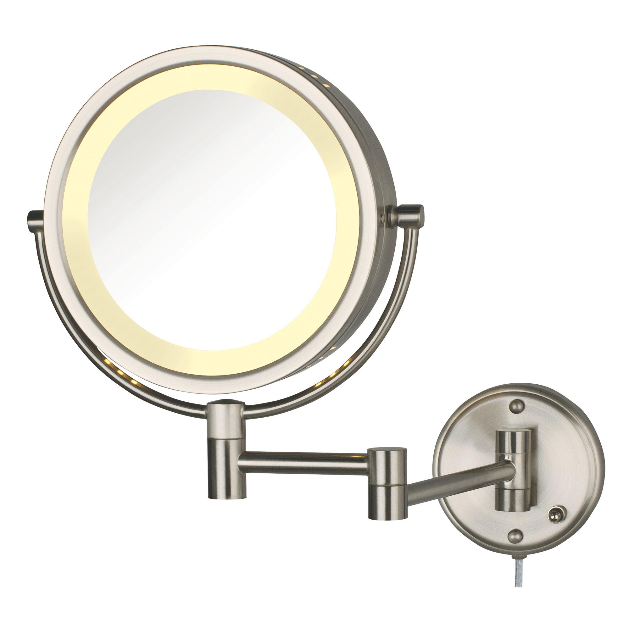 jerdon hl75n 8 5 lighted wall mount mirror 1x 8x. Black Bedroom Furniture Sets. Home Design Ideas