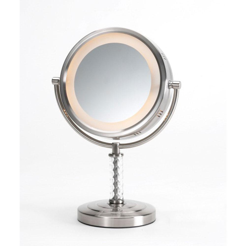 Jerdon Hl856mnc 8 Quot Lighted Tabletop Mirror 1x 6x