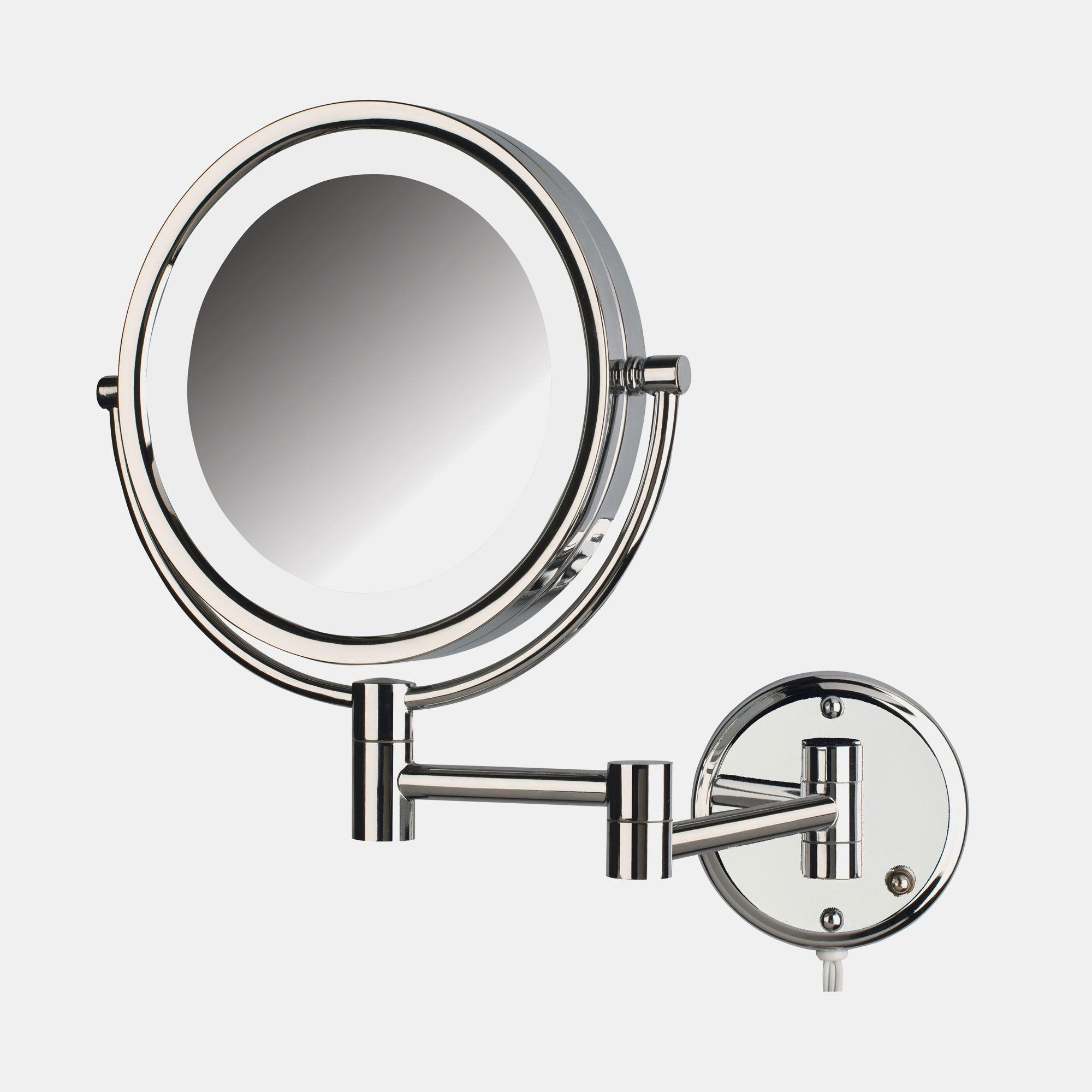 Jerdon Hl88cl 8 5 Quot Led Lighted Wall Mount Mirror 1x 8x