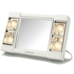 Jerdon J1010 Lighted Tabletop Makeup Mirror 1X-3X Magnification White 6 Per Case Price Per Each
