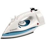 Jerdon J913W Mid Size Iron w/ 7' Retractable Cord Duel Auto Off White 6 Per Case Price Per Each