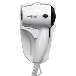 Jerdon JHD41W ProVersa 1600 Watt Wall Mount Hair Dryer 2 Speeds/2 Heat Settings Auto Off White 6 Per Case Price Per Each