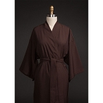 Telegraph Hill Seersucker Kimono Bathrobe 100% Microfiber Chocolate 6 Per Case Price Per Each