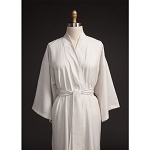 Telegraph Hill Seersucker Kimono Bathrobe 100% Microfiber Stone 6 Per Case Price Per Each