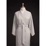 Telegraph Hill Seersucker Kimono Bathrobe 100% Microfiber Taupe 6 Per Case Price Per Each