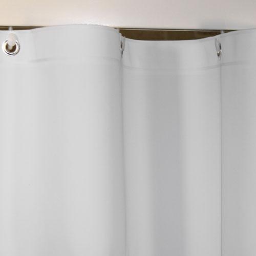 Kartri 8 Gauge Peva Plain Vinyl Shower Curtain W Metal