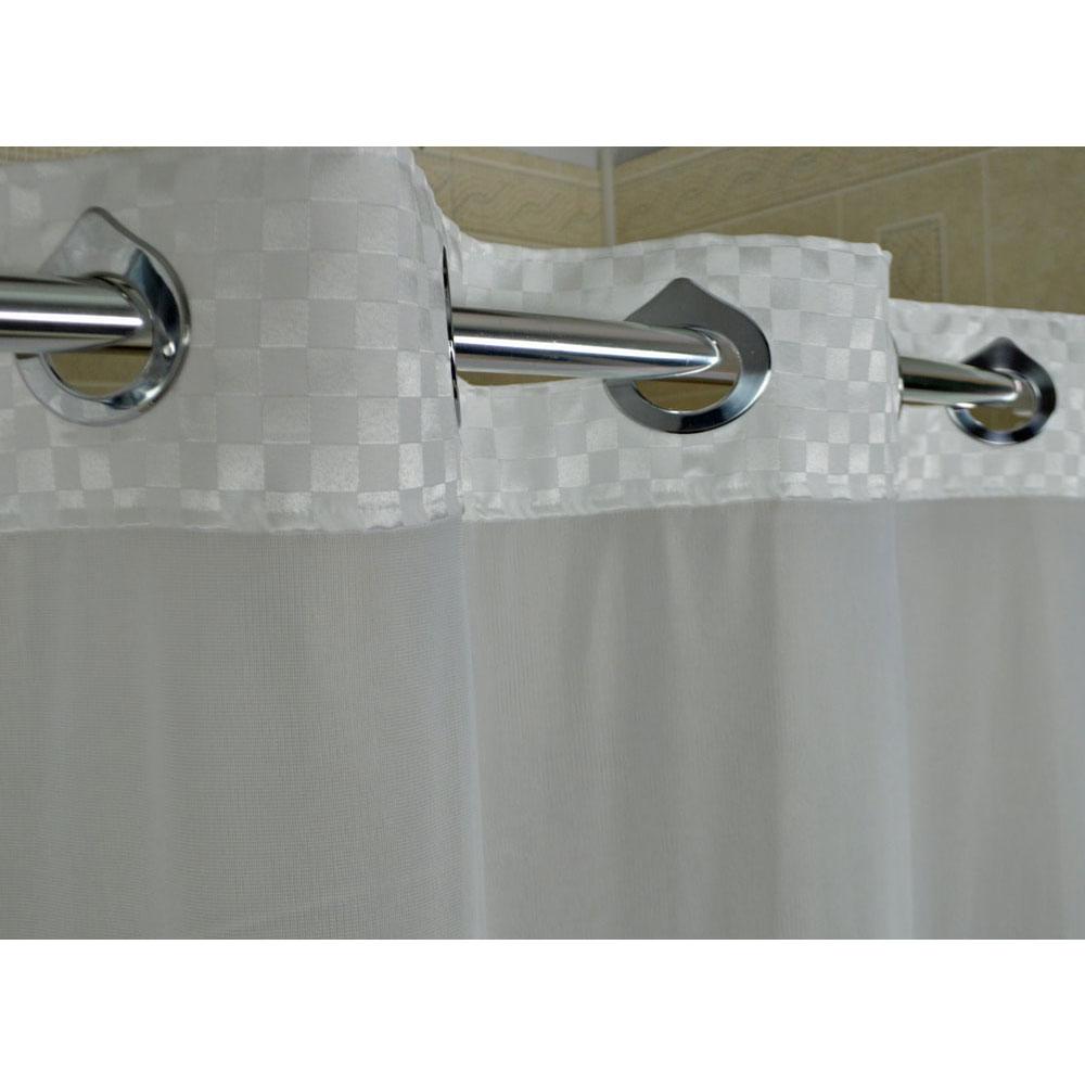 Kartri Satin Box Polyester Shower Curtain W Sewn Eyelets 36x72 White 24 Per Case Price Each