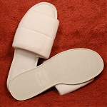 Kartri Open Toe Terry Womens or Mens Large Bath Slippers w/ PVC Sole White 100 Per Case Price Per Each