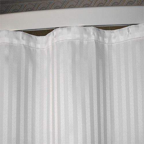 Kartri Satein Woven Polyester Shower Curtain w/ Sewn Eyelets 34x72 ...