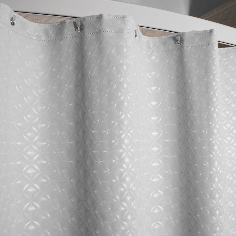 Kartri 8 Gauge Swirl Vinyl Shower Curtain W Metal Grommets 72x72 12 Per Case Price Per Each