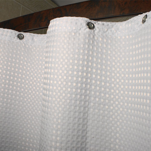 Kartri Executive Waffle Flame Retardant Polyester Shower Curtain w