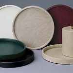 Lancaster Colony Glamour Round Plush Leatherette Tray 12 Per Case Price Per Each