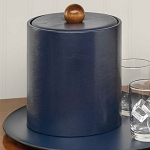 Lancaster Colony Glamour Deluxe 2 Qt. Leatherette Ice Bucket w/ Goldtone Knob 12 Per Case Price Per Each