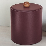 Lancaster Colony Glamour Elite 3 Qt. Leatherette Ice Bucket w/ Padded Lid 12 Per Case Price Per Each