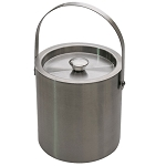 Lancaster Colony 3 Qt. Stainless Steel Brushed Ice Bucket 12 Per Case Price Per Each