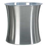 NuSteel Elite Double Wall Stainless 11 Qt. Wastebasket 6 Per Case Price Per Each