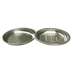 NuSteel Newport Brushed Finish Soap Dish 2 Pk 24 Per Case Price Per Each