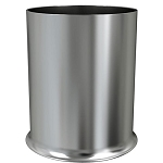 NuSteel Newport Brushed Finish 7 Qt. Wastebasket 6 Per Case Price Per Each