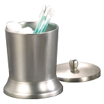 NuSteel Rosement Pewter Finish Swab/Cotton Container 24 Per Case Price Per Each