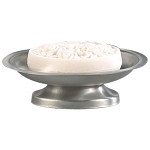 NuSteel Rosement Pewter Finish Soap Dish 24 Per Case Price Per Each