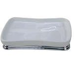 NuSteel Sag Harbor Ceramic & Chrome Amenity Tray 12 Per Case Price Per Each