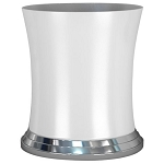 NuSteel Sag Harbor Ceramic & Chrome 5 Qt. Wastebasket 3 Per Case Price Per Each