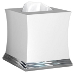 NuSteel Sag Harbor Ceramic & Chrome Boutique Tissue Box Cover 6 Per Case Price Per Each