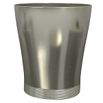 NuSteel Special Pewter Finish 6 Qt. Wastebasket 6 Per Case Price Per Each