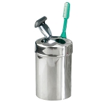 NuSteel Gloss Mirror Finish Toothbrush Holder 24 Per Case Price Per Each