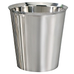 NuSteel Gloss Mirror Finish 6.5 Qt. Wastebasket 6 Per Case Price Per Each