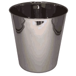 NuSteel Gloss Mirror Finish 9 Qt. Wastebasket Fits Plastic Liner 6 Per Case Price Per Each