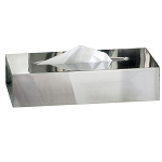 NuSteel Gloss Mirror Finish Rectangle Tissue Box Cover 12 Per Case Price Per Each