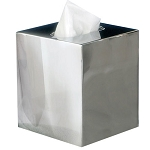 NuSteel Gloss Mirror Finish Boutique Tissue Box Cover 12 Per Case Price Per Each