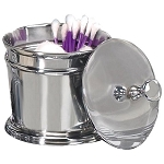 NuSteel Timeless Chrome Finish Swab/Cotton Container 24 Per Case Price Per Each