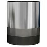 NuSteel Triune Platinum 3 Tone Finish 7.5 Qt. Wastebasket 2 Per Case Price Per Each