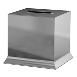 NuSteel Madison 18/8 Stainless Boutique Tissue Box Cover 12 Per Case Price Per Each