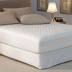 Pacific Coast Platinum Quilted Mattress Pad w/ Fitted Skirt Twin 38x80 6 Per Case Price Per Each