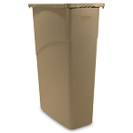 Rubbermaid Commercial 354000BG 23 Gallon Slim Jim® Rectangular Waste Container w/out Lid Beige
