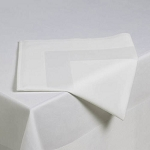 Riegel Satin Band Beauti- Damask Cotton Blend Napkins 10x10 White 6 Dz Per Case Price Per Dz