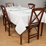 Riegel Permalux Cotton Blend Rectangular Tablecloth 72x120 White 1 Dz Per Case Price Per Dz