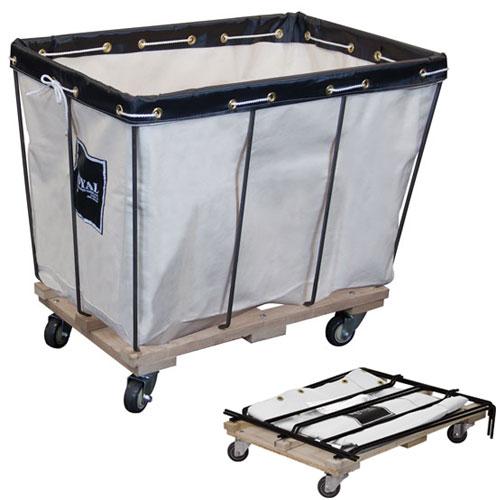 Royal Basket 12 Bushel Canvas Knock Down Basket Trucks W