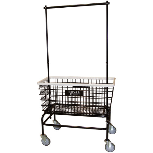 Royal Basket Large Basket Wire Laundry Cart W Double Hanger p 19304 on recycling receptacles