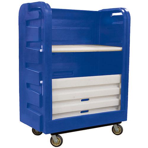 Royal Basket 48 Cu Ft Turnabout Truck W Plastic Shelves