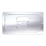 Rubbermaid Commercial 108P23CLE Cold Food Pan Cover w/ Peg Hole 1/6 Size 6 Per Case Price Per Each