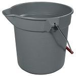 Rubbermaid Commercial 2963GRAY 10 Qt. Brute® Round Plastic Bucket Gray